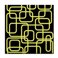 Yellow and black decorative design Face Towel
