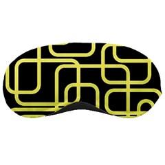 Yellow and black decorative design Sleeping Masks