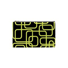 Yellow and black decorative design Cosmetic Bag (Small)