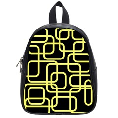 Yellow and black decorative design School Bags (Small)