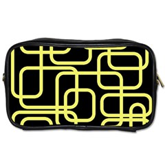 Yellow and black decorative design Toiletries Bags