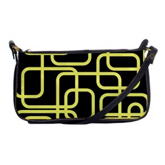 Yellow and black decorative design Shoulder Clutch Bags