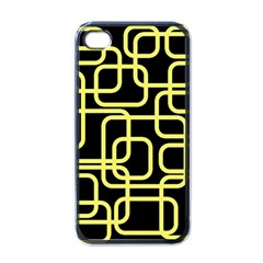 Yellow and black decorative design Apple iPhone 4 Case (Black)