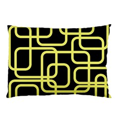 Yellow and black decorative design Pillow Case (Two Sides)