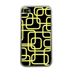 Yellow and black decorative design Apple iPhone 4 Case (Clear)