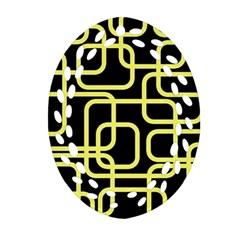 Yellow and black decorative design Ornament (Oval Filigree)