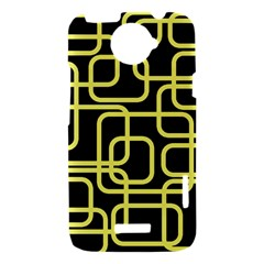 Yellow and black decorative design HTC One X Hardshell Case