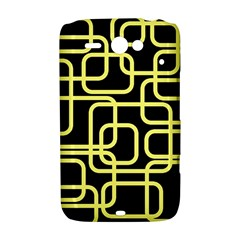 Yellow and black decorative design HTC ChaCha / HTC Status Hardshell Case