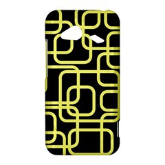 Yellow and black decorative design HTC Droid Incredible 4G LTE Hardshell Case