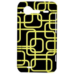 Yellow and black decorative design HTC Incredible S Hardshell Case