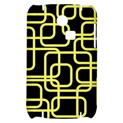 Yellow and black decorative design Samsung S3350 Hardshell Case