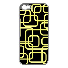 Yellow and black decorative design Apple iPhone 5 Case (Silver)