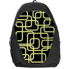 Yellow and black decorative design Backpack Bag