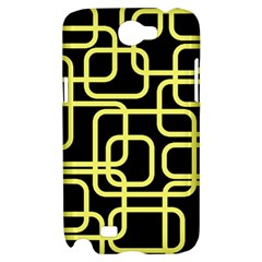 Yellow and black decorative design Samsung Galaxy Note 2 Hardshell Case
