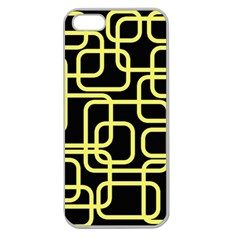 Yellow and black decorative design Apple Seamless iPhone 5 Case (Clear)
