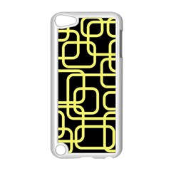 Yellow and black decorative design Apple iPod Touch 5 Case (White)