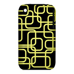 Yellow and black decorative design Apple iPhone 3G/3GS Hardshell Case (PC+Silicone)