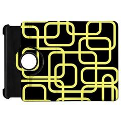 Yellow and black decorative design Kindle Fire HD Flip 360 Case