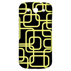 Yellow and black decorative design Samsung Galaxy S3 S III Classic Hardshell Back Case