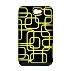 Yellow and black decorative design Samsung Galaxy Note 2 Hardshell Case (PC+Silicone)
