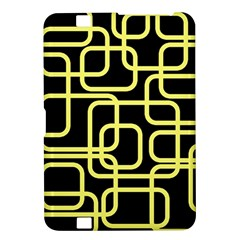 Yellow and black decorative design Kindle Fire HD 8.9