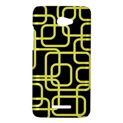Yellow and black decorative design HTC Butterfly X920E Hardshell Case