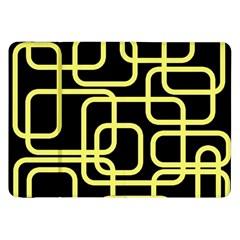 Yellow and black decorative design Samsung Galaxy Tab 8.9  P7300 Flip Case