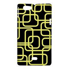 Yellow and black decorative design Sony Xperia Miro