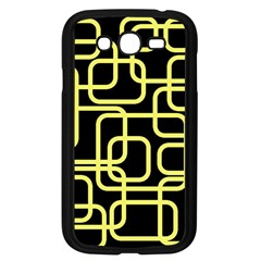 Yellow and black decorative design Samsung Galaxy Grand DUOS I9082 Case (Black)