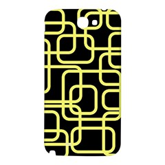 Yellow and black decorative design Samsung Note 2 N7100 Hardshell Back Case