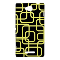 Yellow and black decorative design Sony Xperia C (S39H)