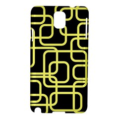 Yellow and black decorative design Samsung Galaxy Note 3 N9005 Hardshell Case