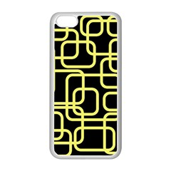 Yellow and black decorative design Apple iPhone 5C Seamless Case (White)