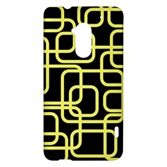 Yellow and black decorative design HTC One Max (T6) Hardshell Case