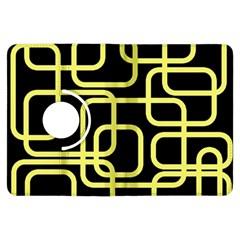 Yellow and black decorative design Kindle Fire HDX Flip 360 Case