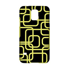 Yellow and black decorative design Samsung Galaxy S5 Hardshell Case