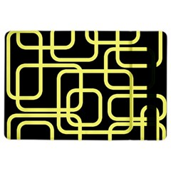 Yellow and black decorative design iPad Air 2 Flip