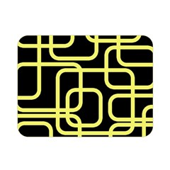 Yellow and black decorative design Double Sided Flano Blanket (Mini)