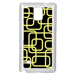 Yellow and black decorative design Samsung Galaxy Note 4 Case (White)