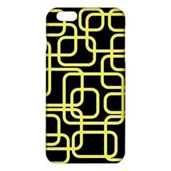 Yellow and black decorative design iPhone 6 Plus/6S Plus TPU Case