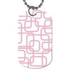 Pink elegant design Dog Tag (Two Sides)