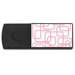 Pink elegant design USB Flash Drive Rectangular (4 GB)