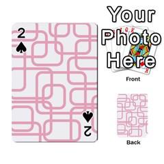Pink elegant design Playing Cards 54 Designs