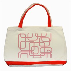 Pink elegant design Classic Tote Bag (Red)