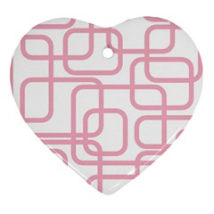 Pink elegant design Heart Ornament (2 Sides)