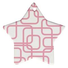 Pink elegant design Star Ornament (Two Sides)