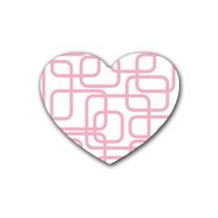 Pink elegant design Heart Coaster (4 pack)