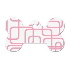 Pink elegant design Dog Tag Bone (Two Sides)