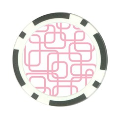 Pink elegant design Poker Chip Card Guards (10 pack)