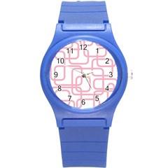 Pink elegant design Round Plastic Sport Watch (S)